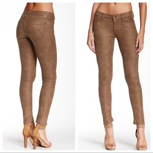 MOTHER The Looker Crackle Tan Skinny Size 29